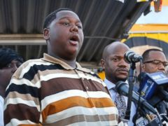 Alton Sterling's son, Cameron, pleaded for peace after the fatal shooting. A/P Photo